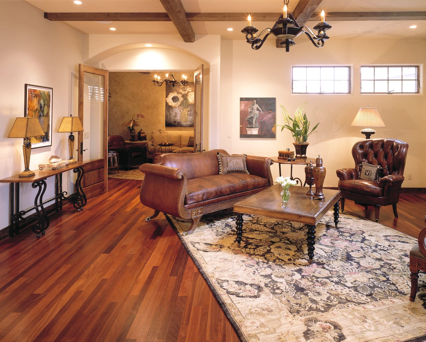 jarrah flooring in home